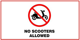 No scooters allowed in the Seychelles